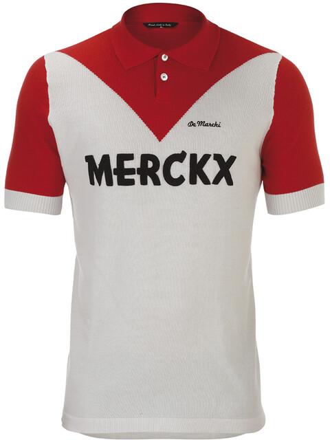 De Marchi X Eddy Merckx 1970 Roubaix Koszulka kolarska, krótki rękaw Mężczyźni czerwony/biały